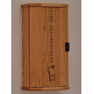 Wooden Fire Extinguisher Cabinet, Engraved Front, 5 lb