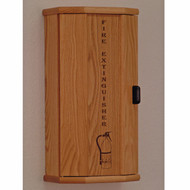 Wooden Fire Extinguisher Cabinets, Engraved Front, 10 lb