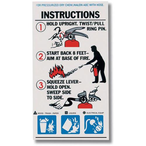 abc fire extinguisher instructional labels safety emporium