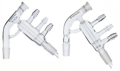 Left: standard configuration.  Right: Vigreaux indentations