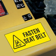 Forklift Label, Fasten Seat Belt w/ Graphic