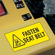 Forklift Label, Fasten Seat Belt w/ Graphic