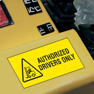 Forklift Label, Authorized Drivers Only w/ Graphic