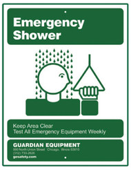 Guardian 250-009G Emergency Shower Sign