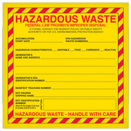 Hazardous Waste Labels, Federal and California, 500/Roll