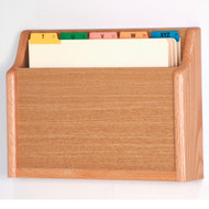 Wooden 1 Pocket Chart and File Holder, Rectangular Pocket