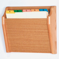 Wooden 1 Pocket Chart and File Holder, Tapered Pocket