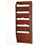 Wooden 5 Pocket Chart and File Holder