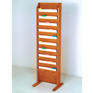 Wooden 10 Pocket Chart and File Holder, Free Standing