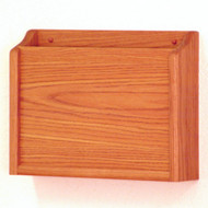 Wooden Privacy 1 Pocket Chart and File Holder