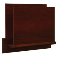 Wooden Privacy Open End File and Chart Holder w/Square Base