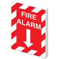 "Double-Sided Fire Alarm Wall-Projecting L-Sign, 10"" w x 14"" h"