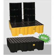 Model 1640 Eagle Forkliftable 4 Drum Spill Containment Pallet
