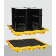 Model 1646 Eagle Forkliftable and Nestable  4 Drum Spill Containment Pallet