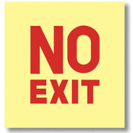 Sign, No Exit, Glow in the Dark, self-adhesive vinyl