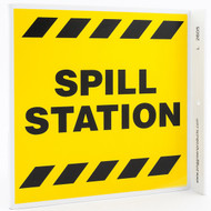 Spill Station Wall-Projecting L-Sign