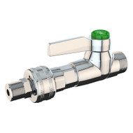 L4303 High Flow Laboratory Water Valve w/ Quick Connect Fitting, Chrome Finish