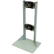 Single Gas Cylinder Floor-Mounted Storage Stands w/ Straps