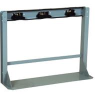 3 Gas Cylinder Floor-Mounted Storage Stand w/ Straps