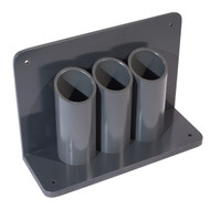 3-Cylinder Wall/Bench-Mounted Lecture Bottle Holder