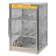 6-Cylinder Horizontal LPG Cylinder Locker, Aluminum