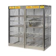 16-Cylinder Horizontal LPG Cylinder Locker, Aluminum