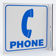 Phone Wall-Projecting L-Sign w/ Icon