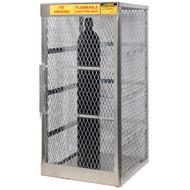 10-Cylinder Vertical Compressed Gas Cylinder Locker, Aluminum