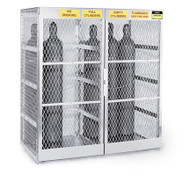 20-Cylinder Vertical Compressed Gas Cylinder Locker, Aluminum