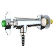 L5100F-225WSA Wall-Mounted Laboratory Water Valve, 90° Angle, Chrome Finish