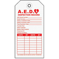 Emergency Defibrillator (AED) Inspection Tags, Cardstock, 10/pkg