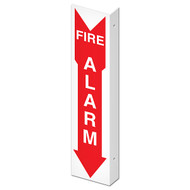 "Double-Sided Fire Alarm Wall-Projecting L-Sign, 4"" w x 18"" h"