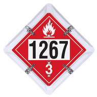 3-Legend DOT Fuel Flip Placard Systems, UN/NA Numbers 1202, 1203 and 1267