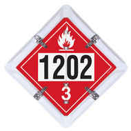 4-Legend DOT Fuel Flip Placard Systems, UN/NA Numbers 1202, 1203, 1863 and 3475