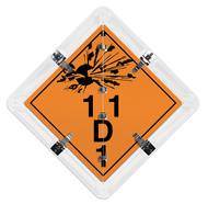 4-Legend DOT Flip Placard System For Explosives Transport (Class 1)