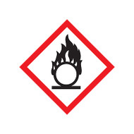 GHS Flame Over Circle Pictogram Labels