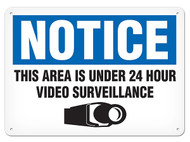 NOTICE This Property Is Under 24 Hour Video Surveillance OSHA Signs w/ Video Camera Icon