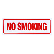 "No Smoking Sign, Self-Adhesive Vinyl, 12"" w x 4"" h"