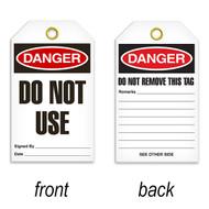 Tags, DANGER, Do Not Use, 25/pkg