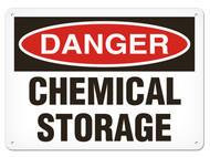 DANGER, Chemical Storage OSHA Signs