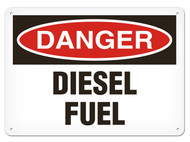 DANGER, Diesel Fuel OSHA Signs
