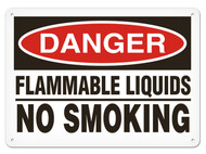 DANGER, Flammable Liquids No Smoking OSHA Signs