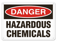 DANGER, Hazardous Chemicals OSHA Signs