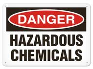 DANGER, Hazardous Chemicals OSHA Signs
