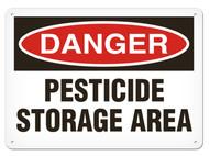 DANGER, Pesticide Storage Area OSHA Signs