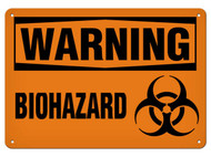 WARNING Biohazard OSHA Signs w/ Biohazard Symbol