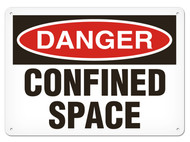 DANGER, Confined Space OSHA Signs