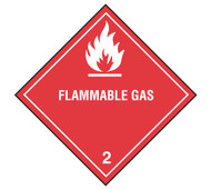 Class 2 Flammable Gas DOT Shipping Labels, 500/roll