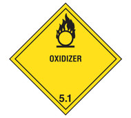 Class 5 Oxidizer DOT Shipping Labels, 500/roll