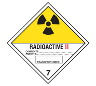 Class 7 Radioactive II DOT Shipping Labels, 500/roll